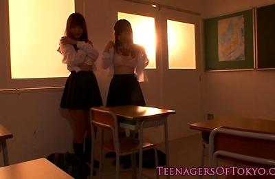 classroom,lesbians,school uniform,teenager,