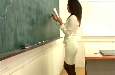 classroom, fucked, hardcore action, pantyhose, sexy japanese, students, teacher,