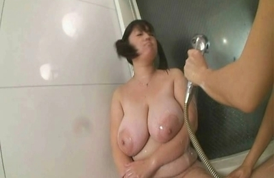big tits,chubby,fucked,shower,