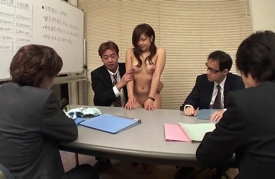 blowjobs, brunette, facialized, gangbang, hand work, sexy japanese, suck,