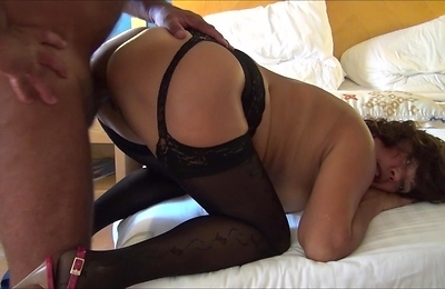 amateur, big ass, black stockings, lingerie, stockings,