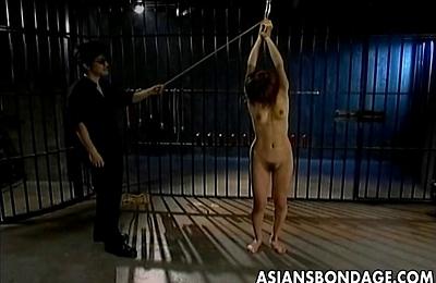 bdsm,bondage,brunette,hairy pussy,hot,sex,slave,