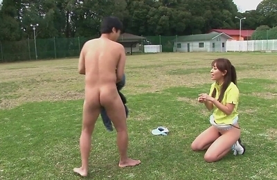 blowjob, blowjobs, brunette, cock sucking, facialized, outdoors, sexy japanese, sport, teenager,