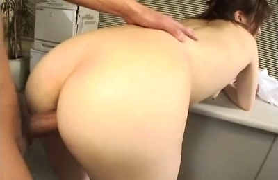 creampie, hardcore action, horny, mika, office, sperm,