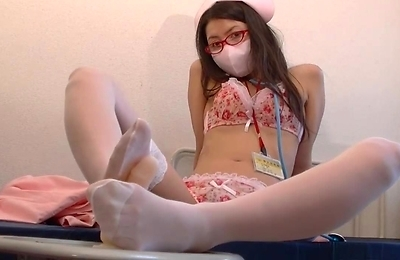 cosplay, foot fetish, footjob, stockings,
