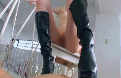 foot fetish,footjob,high boots,