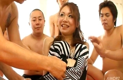 beautiful,big tits,blowjob,creampie,cumshots,fucked,group action,hot,orgy,sara,sexy japanese,