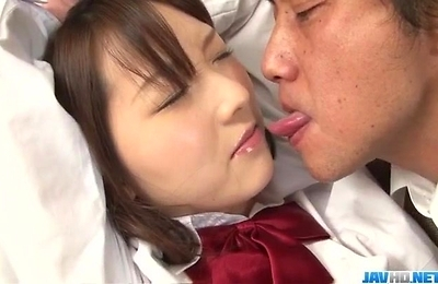 creampie, group action, hardcore action, school uniform, threesome,