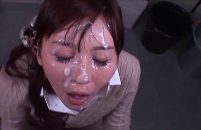 bukkake,cumshots,facialized,tatsumi yui,teenager,
