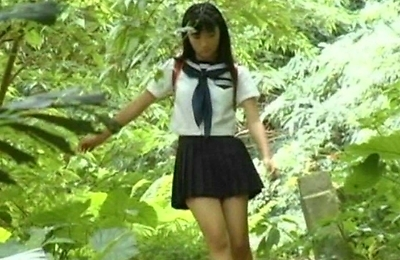 aira mihana, brunette, school, softcore, teenager,