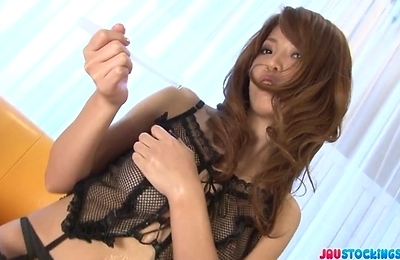 masturbation, sayaka, sexy japanese, solo girls, stockings, stripped, teenager,