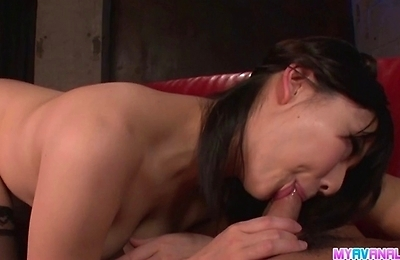 anal, blowjob, cramped, creampie, hardcore action, hot milf, stockings,