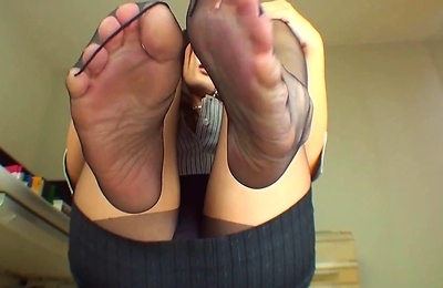 foot fetish, kinky, pantyhose, stockings,