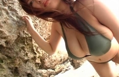 beach, big tits, outdoors, yoko matsugane,