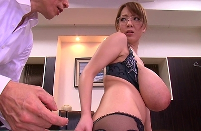 big tits, office, undressing,