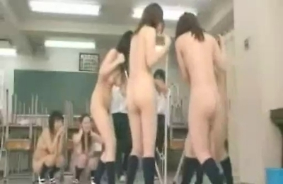 naked, public place, school,