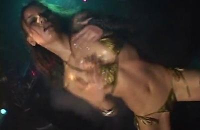 bikini,oiled body,