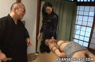 bondage,couples,fucked,kinky,pussy,sex toys,sexy japanese,spanking,threesome,