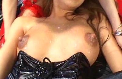 big tits,lesbians,milking tits,nipple,