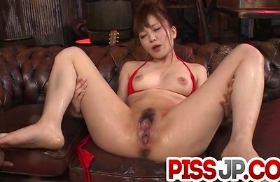 bikini,oral sex,red lingerie,sex toys,squirting,