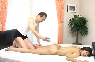 amateur, massage, oiled body,