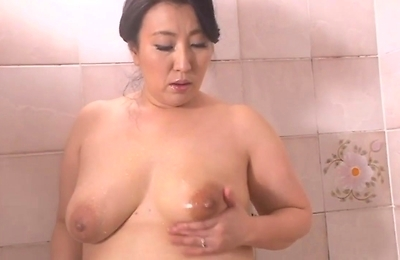 big tits, chubby, shower,