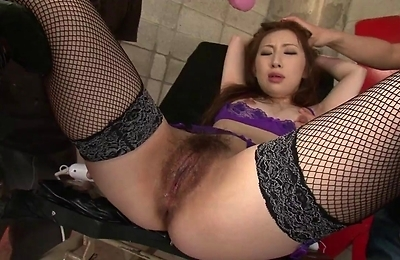 bdsm, brunette, hairy pussy, lingerie, masturbation, pussy, sex, sex toys, slave, threesome,