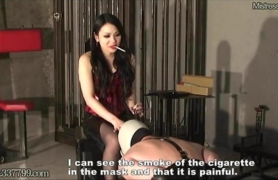 bdsm, bondage, domination, slave, smoking,