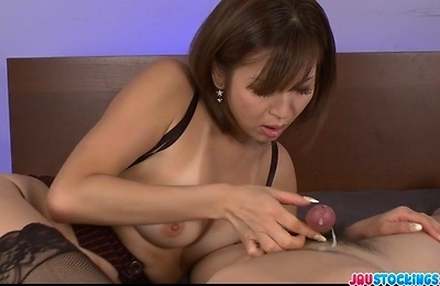 cumshots, horny, hot milf, mai, pov, stockings,