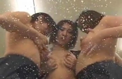 group action, kinky, lesbians, many, masturbation, milking tits, nipple, threesome,