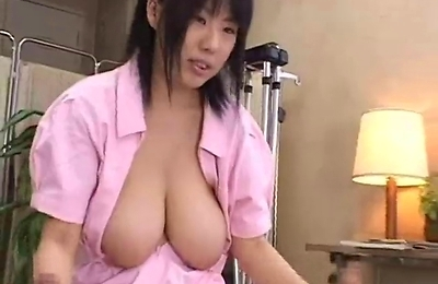 big tits, hand work, nurse,