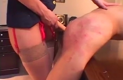bdsm, blonde, slave, strapon,