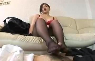 foot fetish,footjob,nylon,stockings,