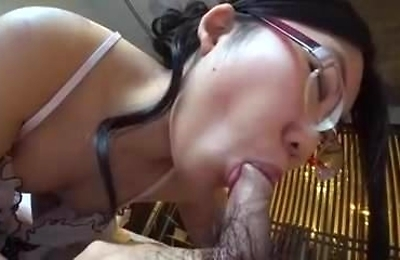 amateur, creampie, glasses,