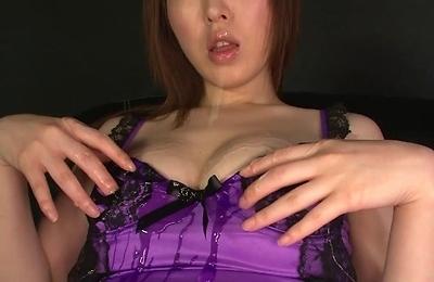 brunette,creampie,fishnet stockings,lingerie,masturbation,sex toys,stockings,